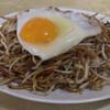 Rakkotei - 料理写真:やきそば 並盛 580円+玉子60円=640円