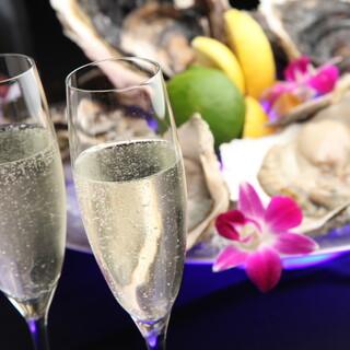 ランチ★旬の牡蠣とシャンパンで昼から乾杯!