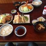 Nijou - 私は上天ぷらとマグロカツ。妻は海老フライ。