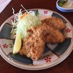 Nijou - マグロカツ400円。此れを食べてみて下さい!