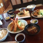 Nijou - 妻の海老フライも1,100円の定食とは思えない味でしたよ〜