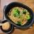 Farm to Table TERRA - 合鴨つみれとオリーブのラグースパゲッティ・ブロッコリーのフリットを乗せて(1480円税)です。