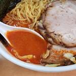 北海道ラーメン 赤レンガ - 味噌オロチョンラーメン 辛さ20倍スープアップ