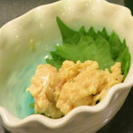 麦酒庵 - 山うに豆腐 (2012/09)