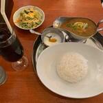 Honkakuindoryouriandoteishokutoppusupaisu - スープカレー定食