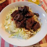 三丁CAFE - 令和2年11月 ランチタイム(11:30~15:30) お昼のランチ 旨コロステーキ丼