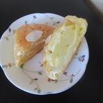 東京洋菓子倶楽部 - アップルパイをカット