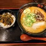 味千拉麺 - 令和3年3月 日替わりランチ 味千ラーメン+高菜丼 税込790円