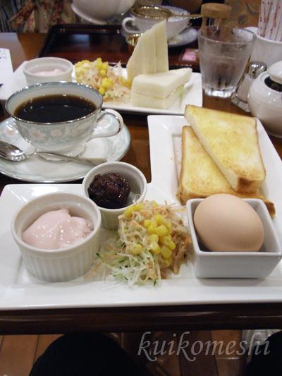 松屋コーヒー 本店 - ル・パン オリジナルコーヒーとモーニングAセット