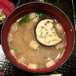 Akasakaajisai - 特製小箱弁当<限定15食> 1050円 のなめこと茄子の味噌汁