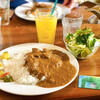 シエスタ - 料理写真:チキンカレーセット(サラダ・ドリンク)。