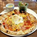 Italian Kitchen VANSAN - 朝ピッツァ(ベーコン&エッグ)(2021.2)