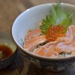 ワラウカド - 〆飯 炙りサーモン丼