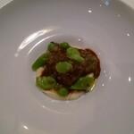147878857 - 鰻の赤ワイン煮 根セロリ・西山農園の春豆