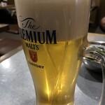 渋谷道玄坂一丁目応援団 大分からあげと鉄板焼 勝男 - メガ生ビールはなんと286円!