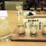 湖穂里 - 利き酒セット(飛露喜・宮泉 写楽・七重郎)