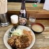キッチン グラン - 料理写真:メンチカツしょうが焼盛合せご飯無し750円、瓶ビール530円