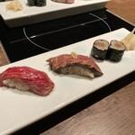 akasakakintan - 肉寿司3貫