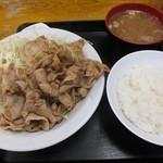 食事処 志野 - 豚肉生姜焼き定食950円