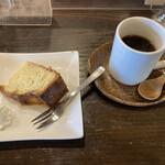 ログ - コーヒーとオレンジのパウンドケーキ