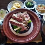 旬魚 旬菜 咲くら - 石焼ステーキ ¥1900