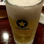 ひょうたん寿司 - 先ずは生ビー(^^♪ 580円