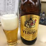 第三モッキリセンター - 瓶ビール(大) エビス580円
