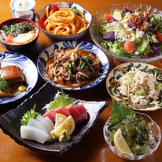 本格沖縄料理と島酒で宴会