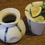 芭蕉庵 - 出汁と薬味