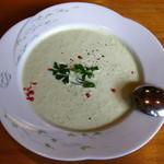 オステリア・ブラ - 本日のスープ:色々お豆の冷スープ