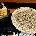 Azuminoan - 熟成十割蕎麦とキスの天丼の日替セット