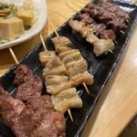 もつ焼き 肉の佐藤 - 料理写真:串焼き盛り合わせ!