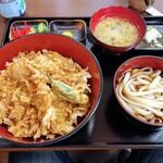 147961042 - 袋屋 「豚肉天丼」1000円+うどん(税込)