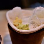 石臼挽き手打 蕎楽亭 - 【むぎめおと(そば&ひやむぎ)@1,000円】薬味
