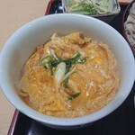 まるしん - ざる定食の玉子丼 小