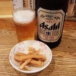 14797468 - 中瓶ビール+お通し