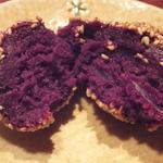 あまからくまから - 割れば、夜目にも鮮やかな紫色!濃厚なコクと穏やかな甘み♪