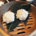 大地の恵 - 豆腐シュウマイセイロ蒸し580円