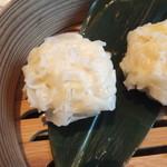 大地の恵 - 豆腐シュウマイセイロ蒸し