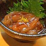 石臼挽き手打 蕎楽亭 - ホタルイカの醤油漬け