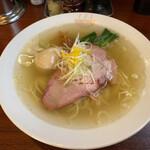 自家製麺 公園前 - ゆず塩らぁめん味玉入り(¥1100)+大盛り(¥150)