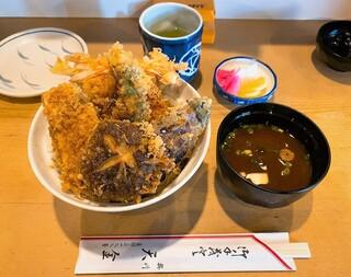 割烹旅館 天金 - 天金@掛川 天金の天丼・大盛(1200円+100円)