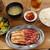 大衆ホルモン肉力屋 - 料理写真:牛中落ちと鹿児島豚のカルビ焼定食 960円