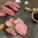 ワインとクラフトビール はるばる - 肉赤身ステーキ