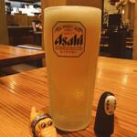 炭火焼き屋 鳥男爵 - ドリンク写真:生ビールが神的である