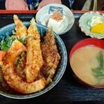 割烹みや川 - 穴子天丼700円