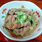 割烹みや川 - 豚もつ煮500円