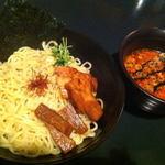 麺や楓 - キノコ味噌つけ麺(ピリ辛)