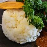 穀雨茶房もも - 緑豆ご飯