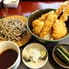 朴仙 - 料理写真:上天丼セット、田舎蕎麦